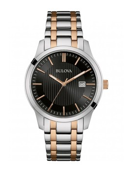 Men's Two Tone Analog Quartz Bracelet Watch, 40mm by Bulova