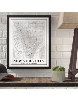 Williston Forge 'new York City Map' Framed Graphic Art Print On Canvas by Williston Forge