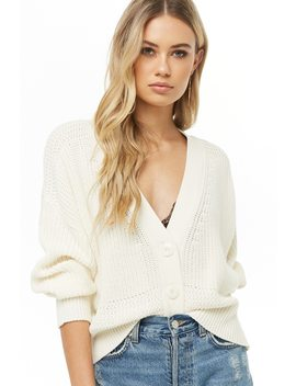 Ribbed Button Front Cardigan by Forever 21