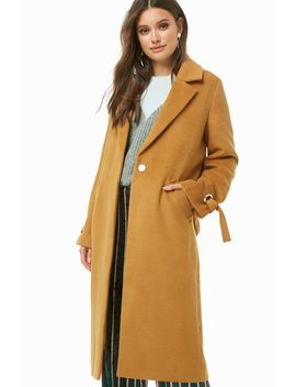 Notched Collar Coat by Forever 21
