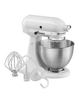 Kitchen Aid Classic Series 4.5 Quart Tilt Head Stand Mixer, White (K45 Sswh) by Kitchen Aid