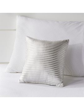 Silver Pinstripe Throw Pillow by Crate&Barrel