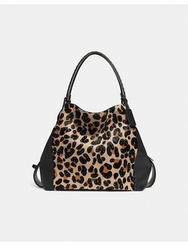 Edie Shoulder Bag 42 With Embellished Leopard Print by Coach