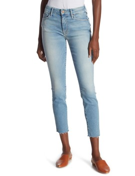 The Looker Fray Ankle Skinny Jeans (Ready To Roll) by Mother