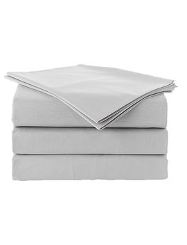 "100 Percents Egyption Cotton Sheet Set {2 Pillow Cases, 1 Fitted Sheet With 18"" Deep Pocket And 1 Flat Sheet} 600 Thread Count. Silver Grey, Queen by Amazon"