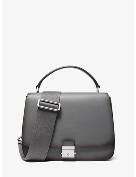 Mia Burnished Calf Leather Shoulder Satchel by Michael Kors Collection
