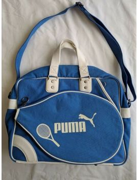 Vintage Puma Tennis Bag Classic Retro Light Blue 90s by Puma
