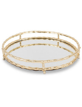 Round Bamboo Vanity Tray by 8 Oak Lane