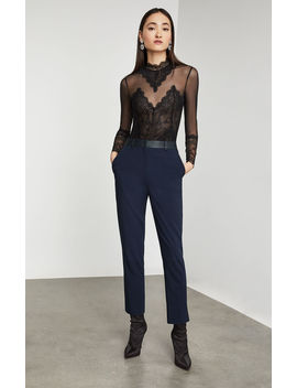Scalloped Lace Bodysuit by Bcbgmaxazria