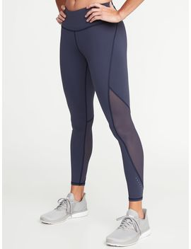 High Rise 7/8 Length Compression Run Leggings For Women by Old Navy