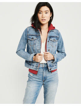 Denim Sweatshirt Jacket by Abercrombie & Fitch