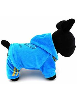 Selmai Dog Clothing Soft Velvet Crown Jumpsuit Pet Pajamas For Puppy Small Dog Coat Hoodie Tracksuit Yorkie Clothes by Selmai