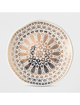 Cravings By Chrissy Teigen Stoneware Dessert Plate White/Gold Moroccan Decal by Shop This Collection