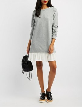 Ruffle Hem Sweater Dress by Charlotte Russe