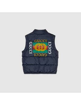 Children's Nylon Jacket With Gucci Logo by Gucci