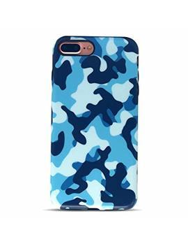 Golink I Phone 7 Plus Case/I Phone 8 Plus Case For Men, Camouflage Camo Imd Printing Slim Fit Anti Scratch Shock Proof Anti Finger Print Flexible Tpu Gel Case For I Phone 7/8 Plus   Blue by Golink