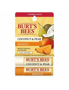 Burt's Bees 100 Percents Natural Moisturizing Lip Balm, Coconut & Pear And Mango With Beeswax & Fruit Extracts   2 Tubes by Burt's Bees