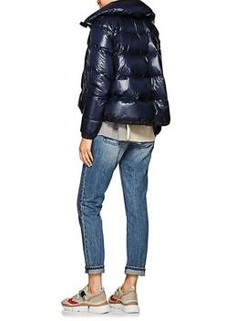 Asymmetric Zip Down Tech Puffer Coat by Sacai