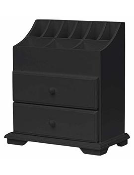 Simply Simily. Vanity Storage Beauty Organizer With Two Drawers, Elegant Cosmetic Organizer Can Be Used In Bathroom, Bedroom Or Office, New Version All Parts Improved, Black by Simply Simily.