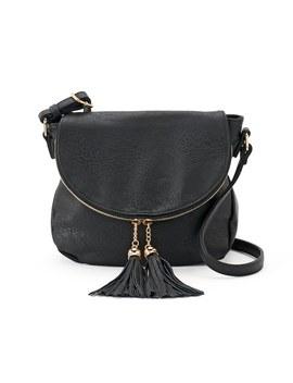 Deluxity Tassel Flap Crossbody Bag by Kohl's