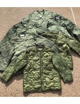 One (1) Nos Us Military M65 Field Jacket Quilted Od Green Coat Liner M 65 Medium by Unbranded