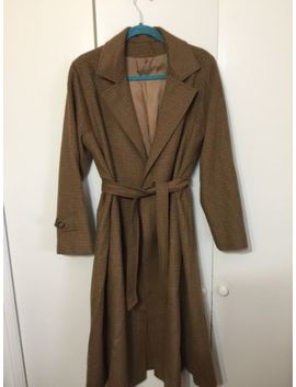 Vtg Ullmann 100 Percents Camel Hair Coat Tan Brown Wrap Belted Sz 12 by Ullmann