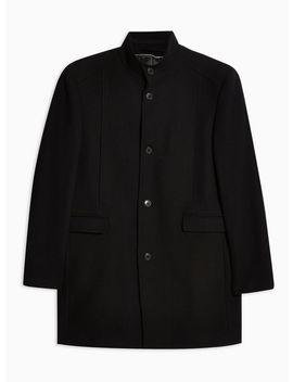 Selected Homme Black Wool Blend Coat by Topman