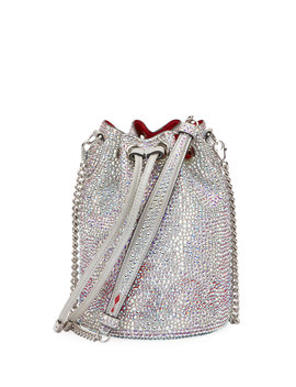 Marie Jane Crystal Beaded Suede Bucket Bag by Christian Louboutin