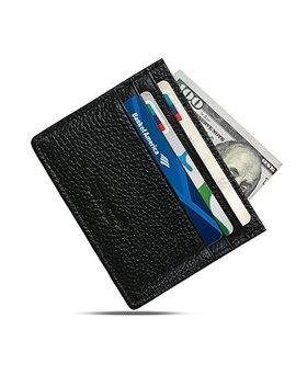 Genuine Leather Slim Wallet   Minimalist Front Pocket Wallet   Leather Money Clip Wallet Card Holders by Uraqt
