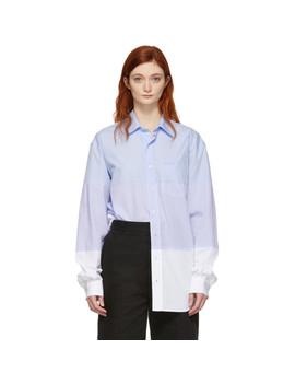 Blue & White Triple Classic Shirt by Vetements