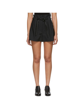 Black Origami Pleated Shorts by 3.1 Phillip Lim