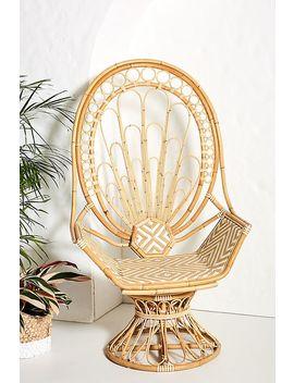 Peacock Rattan Chair by Justina Blakeney