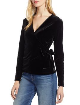 Velvet Ballet Wrap Top by Halogen®
