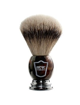 Parker Safety Razor 100 Percents Silvertip Badger Bristle Faux Horn Handle Shaving Brush With Brush Stand by Amazon