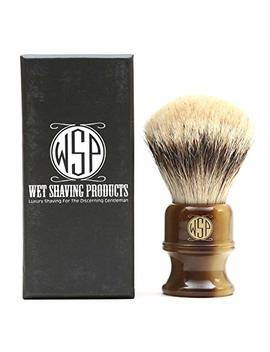 """Shaving Brush High Mountain White Silvertip Badger Large (26mm) Extra Dense Wsp """"Stubby"""" by Wet Shaving Products"""