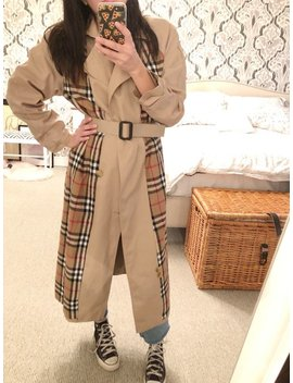 Vintage 90's Trench Coat Burberry Style Size 44 by Etsy