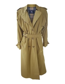 Burberry Women's Vintage Extra Long Classic Trench Coat (12 Xl) by Etsy