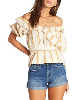 Babes All Day Off The Shoulder Top by Billabong