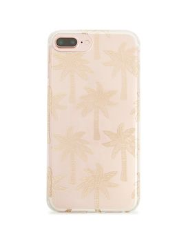 Palm Tree Print Phone Case For I Phone 6/7/8 Plus by Forever 21