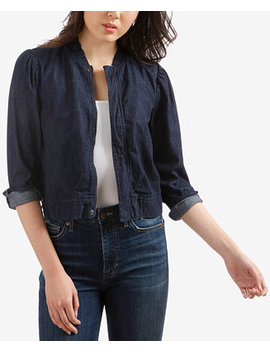 Cotton Denim Bomber Jacket by Lucky Brand