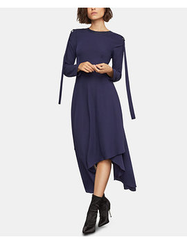 Faux Leather Trim Asymmetrical Dress by Bcbgmaxazria