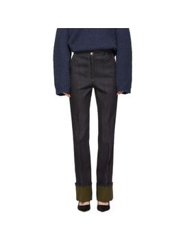 Navy Cuffed Jeans by Bottega Veneta