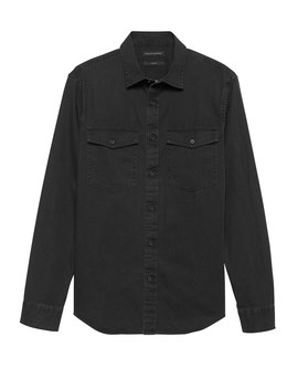 Slim Fit Chambray Utility Shirt by Banana Repbulic