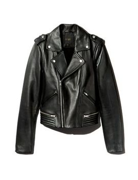 Basalt Leather Moto Jacket by Maje