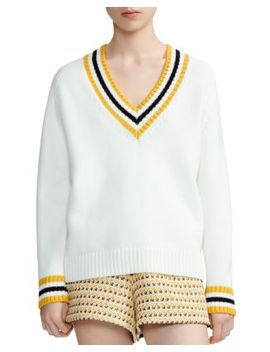 Meteo Banded Stripe Sweater by Maje