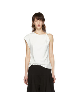 White One Shoulder T Shirt by ChloÉ