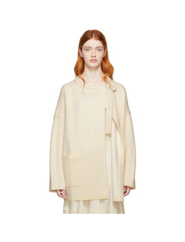 Off White Compact Knit Coat by ChloÉ