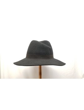 Adjustable Black Wool Panama Hat by Etsy