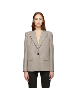 Brown & Beige Prince Of Wales Blazer by Givenchy