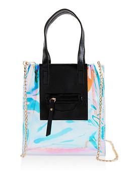 Iridescent Crossbody Tote Bag by Rainbow